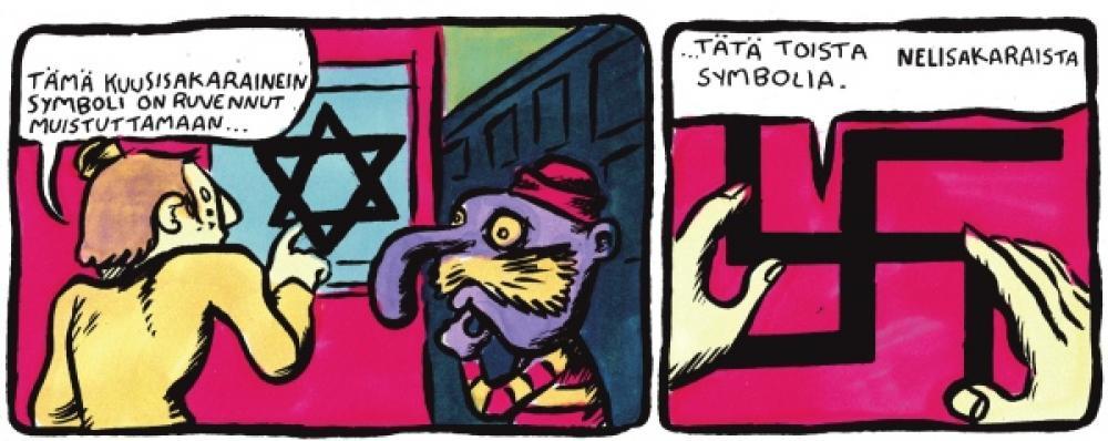 Sami Ahon sarjakuva.