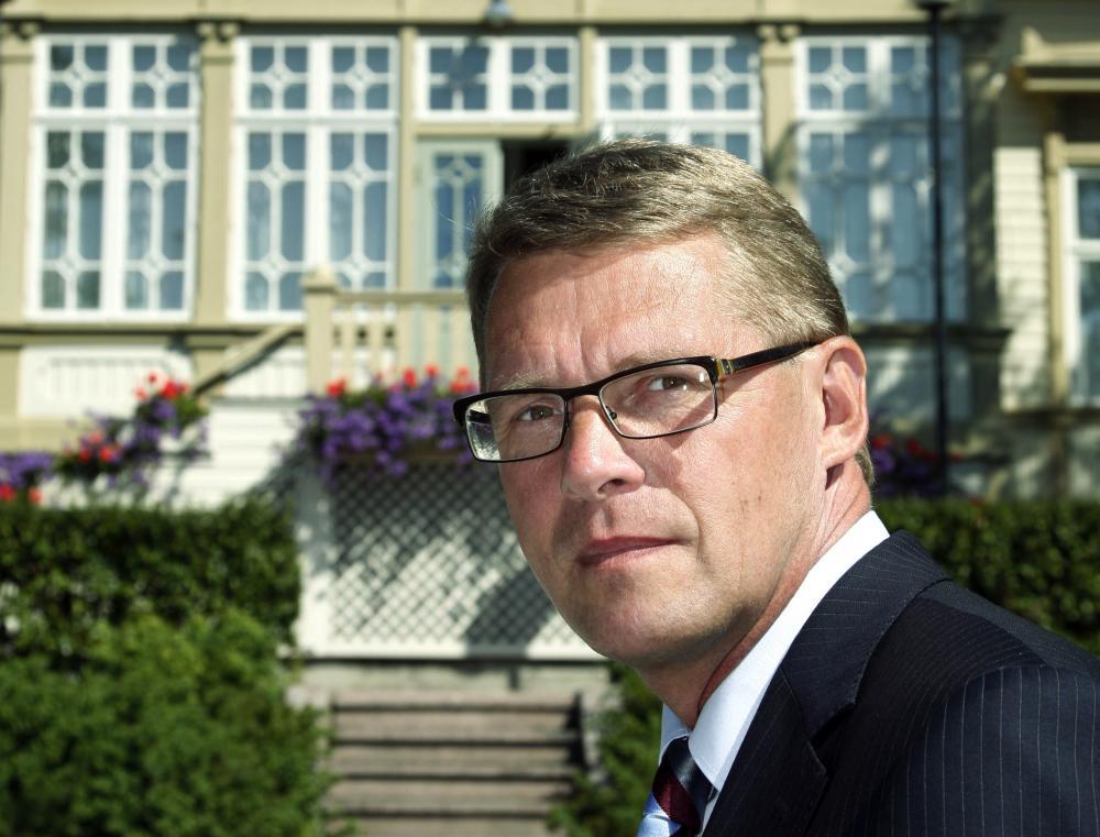 Pääministeri Matti Vanhanen.