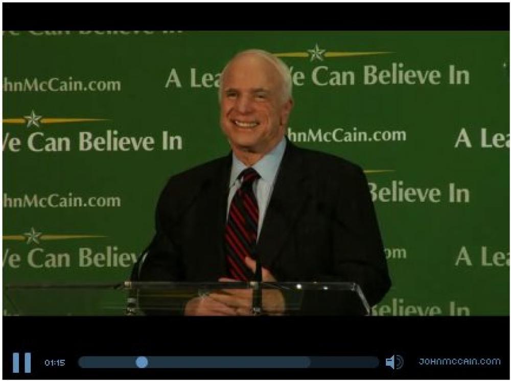 John McCain puhuu.