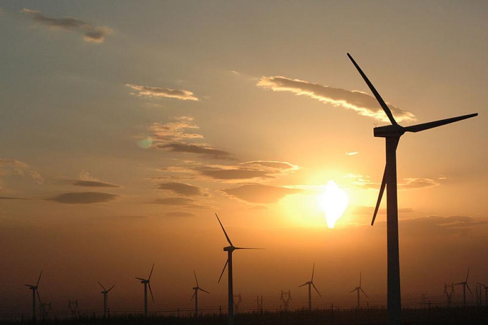 Tuulivoimaa Kiinassa.