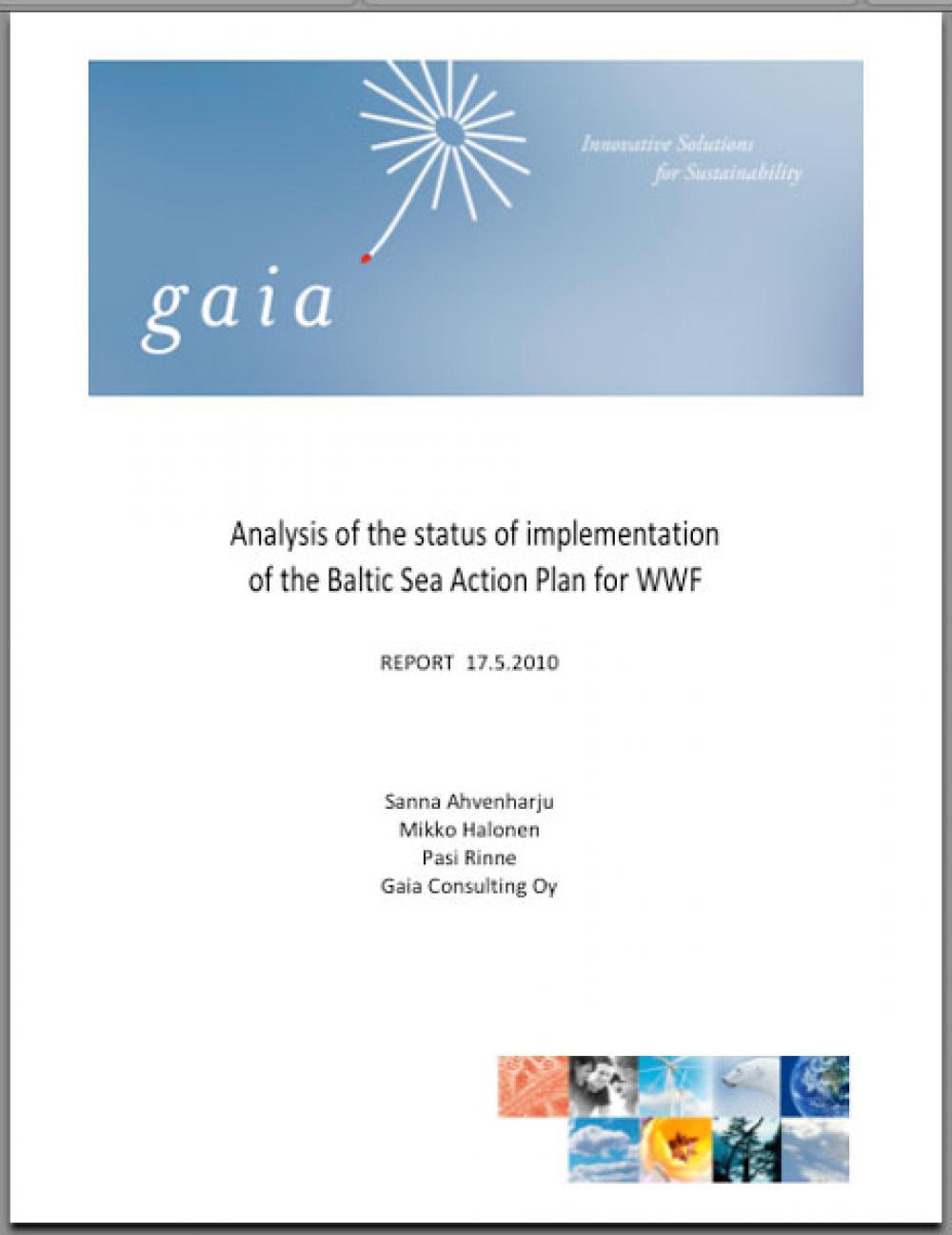 WWF:n seurantaraportti.