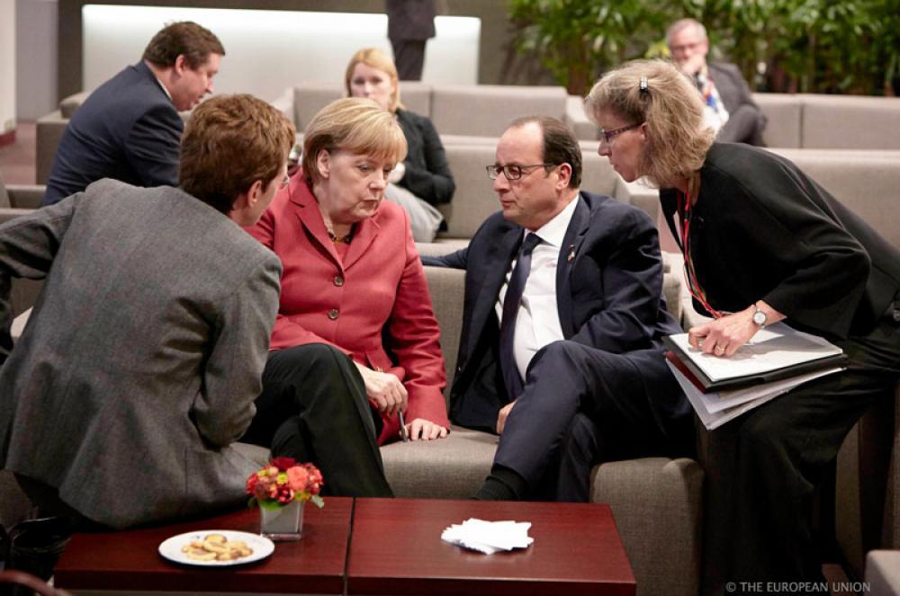 Angela Markel ja Francois Hollande