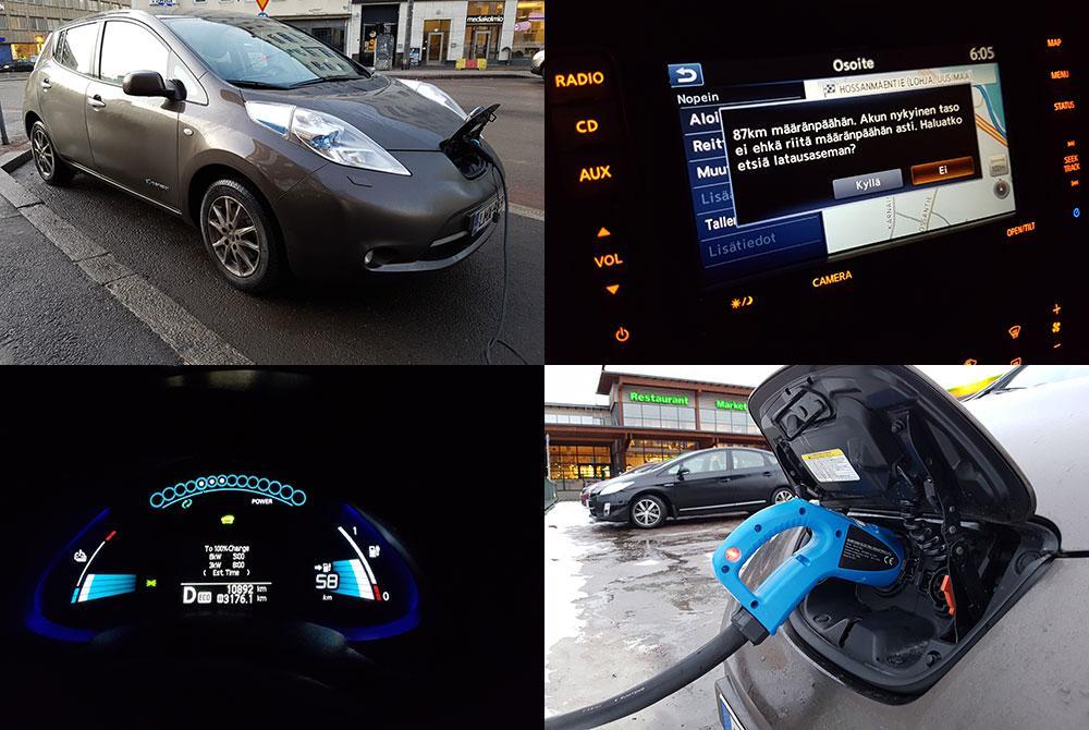 Nissan Leaf -testi