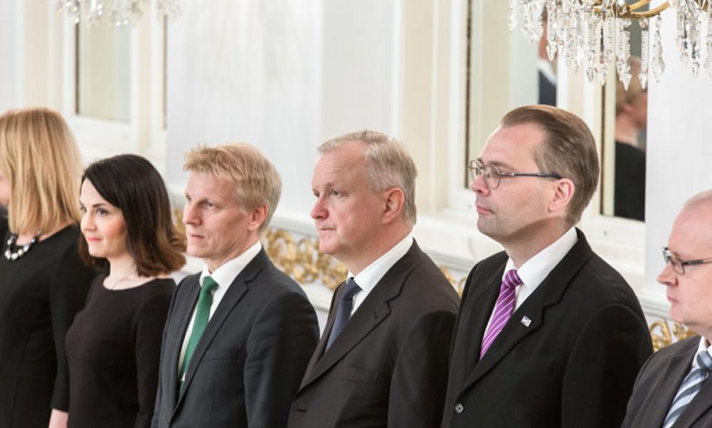 Olli Rehn ministeririvissä