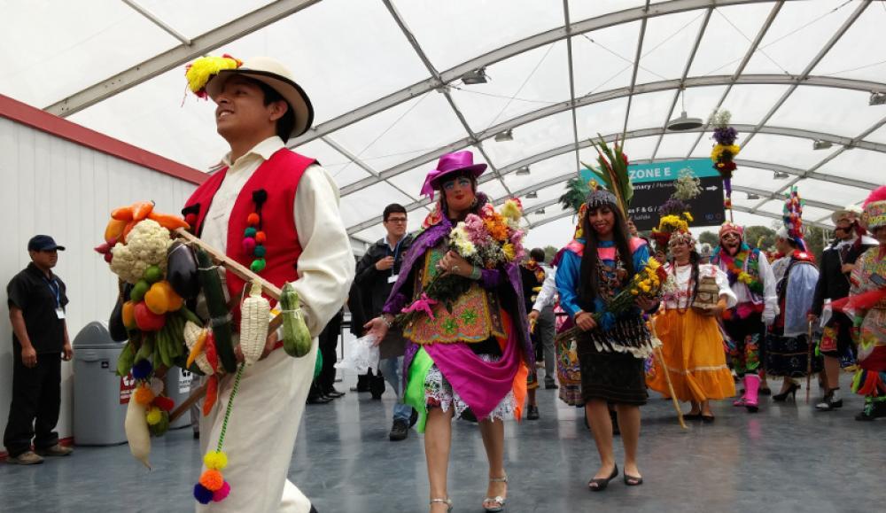 Alkuperäiskansojen edustajia Liman kokouksessa