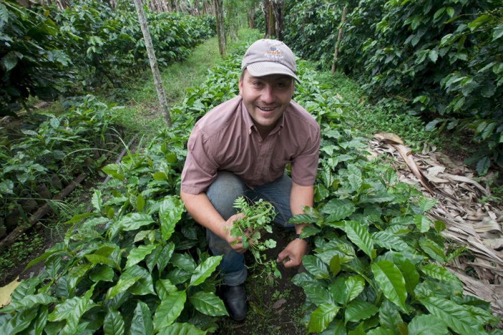 Kahvinviljelijä Sergio Cruz