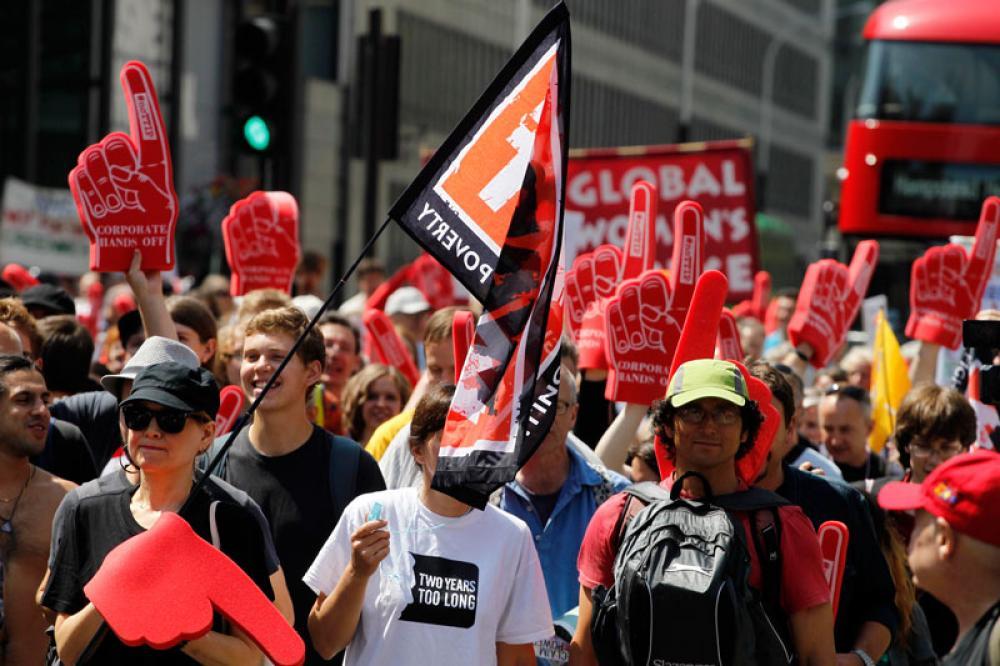 TTIP:n vastainen mielenosoitus Lontoossa