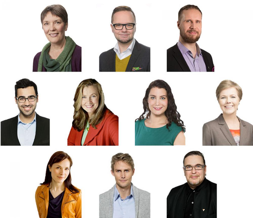 Uudet vihreät kansanedustajat