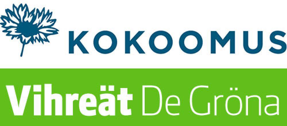 Kokoomuksen ja vihreiden logot