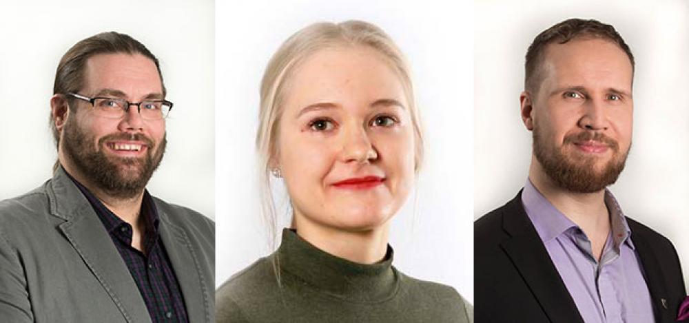 Nico Holmberg, Iida Asikainen ja Touko Aalto