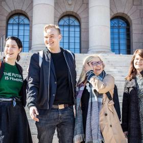 Emma Kari, Atte Harjanne, Saara Hyrkkö ja Outi Alanko-Kahiluoto