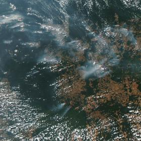 Sateliittikuva metsäpalosta