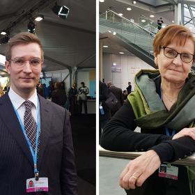 Oras Tynkkynen ja Sirpa Hertell Bonnin ilmastokokouksessa