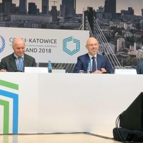 Laurent Fabius, Michal Kurtyka ja Manuel Pulgar-Vidal