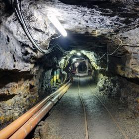 Tunneli vanhassa hiilikaivoksessa