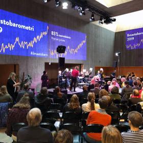 Ilmastobarometrin julkistus Helsingin Tiedekulmassa