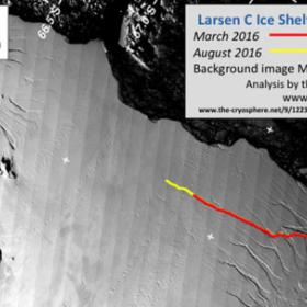 Railo Larsen C -jäähyllyssä