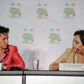 Christiana Figueres ja Patricia Espinosa