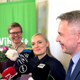 Krista Mikkonen, Maria Ohisalo ja Pekka Haavisto